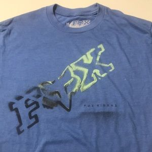 FOX RACING Mens Medium Blue Tee Shirt